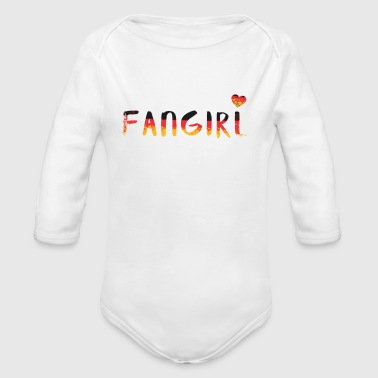 Maillot de foot Fangirl Mrs Girly Groupie - Body bébé bio manches longues