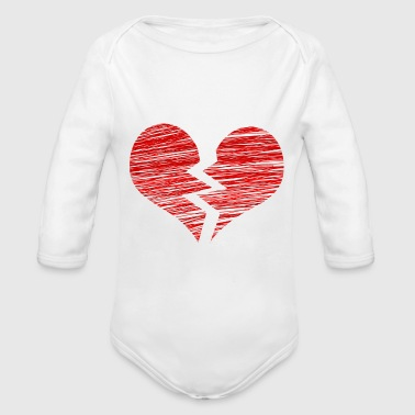 The broken heart - Organic Longsleeve Baby Bodysuit