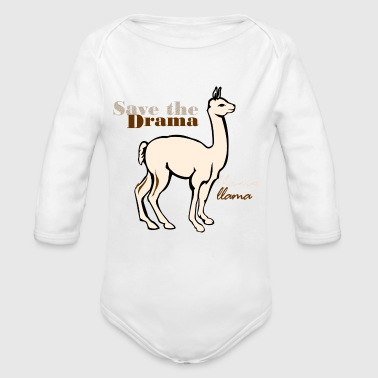 Save the drama - Organic Longsleeve Baby Bodysuit