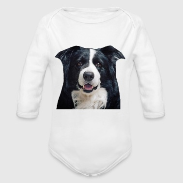 Border-Collie - Baby Bio-Langarm-Body