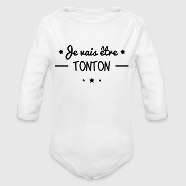 Uncle Future Uncle soon - Organic Longsleeve Baby Bodysuit