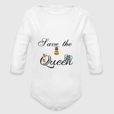 Save the Queen - Organic Longsleeve Baby Bodysuit