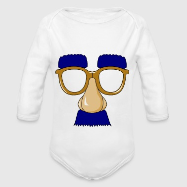 Glasses with mustache - Organic Longsleeve Baby Bodysuit