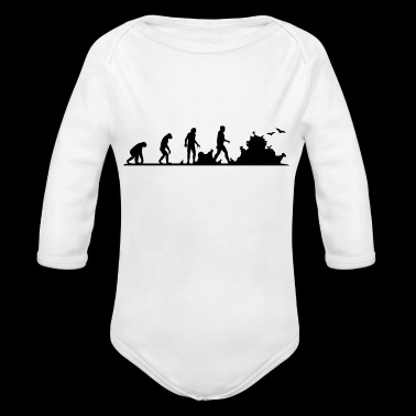 Evolution of garbage people - Organic Longsleeve Baby Bodysuit