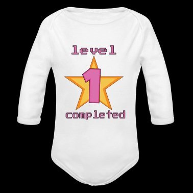 1st level finished - surprise for the baby's birthday - Organic Longsleeve Baby Bodysuit