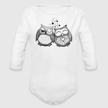 owls in love  - Organic Longsleeve Baby Bodysuit