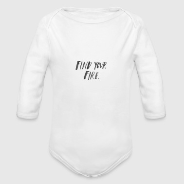 Find your Fire - Organic Longsleeve Baby Bodysuit