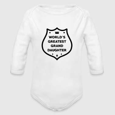 Granddaughter Petite Fille Enkelin Grand Daughter - Organic Longsleeve Baby Bodysuit
