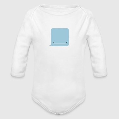 Whale ( Text Message ) - Organic Longsleeve Baby Bodysuit