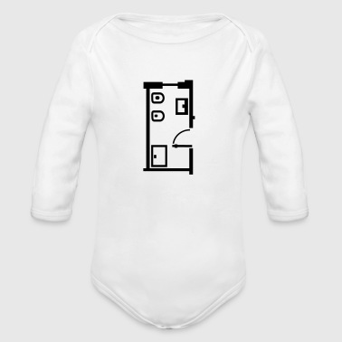 bathroom _floor _plan _p1 - Organic Longsleeve Baby Bodysuit