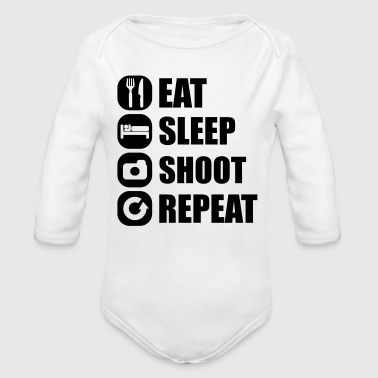 eat_sleep_shoot_repeat_3_1f - Body bébé bio manches longues