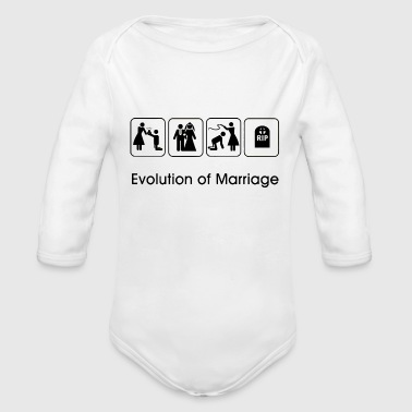 EVOLUTION OF MARRIAGE T-Shirts - Organic Longsleeve Baby Bodysuit