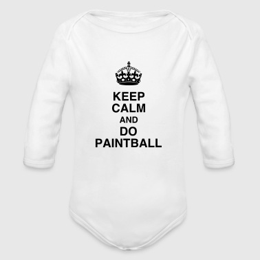 Paintball - Paintballer - Airsoft - Sport - Winner - Organic Longsleeve Baby Bodysuit
