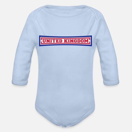 Love Baby Clothes - United Kingdom - Organic Long-Sleeved Baby Bodysuit sky