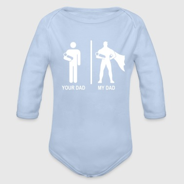 your dad, my dad - Økologisk langermet baby-body