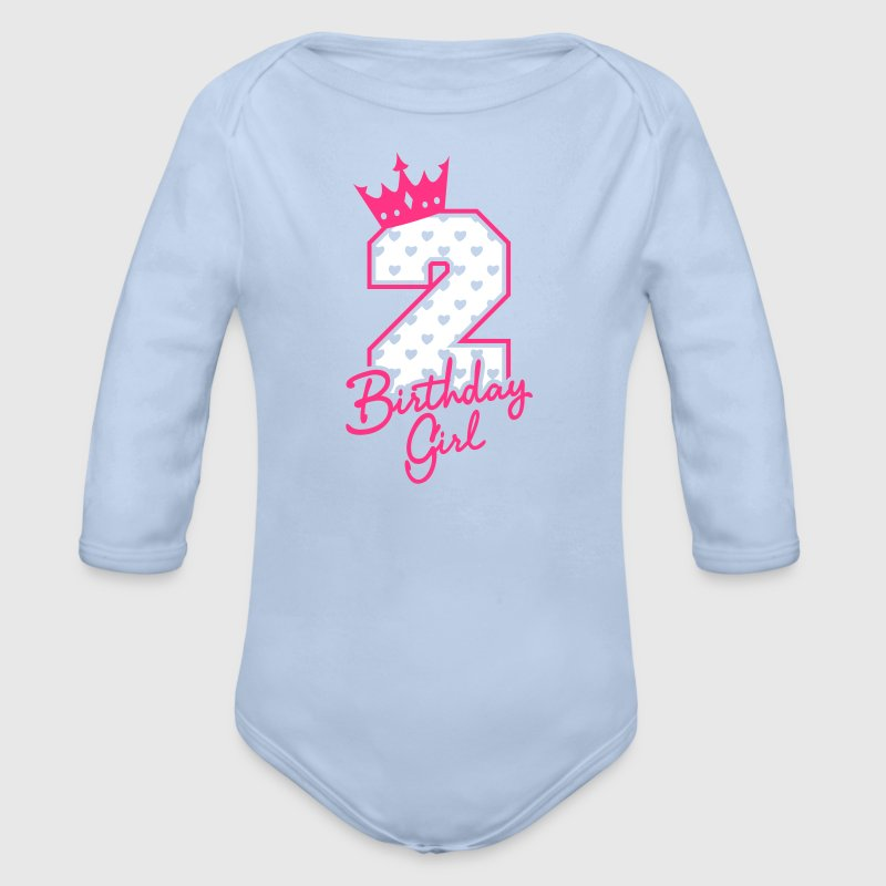 Zweiter Geburtstag-Second Birthday-Birthday Girl - Baby Bio-Langarm-Body
