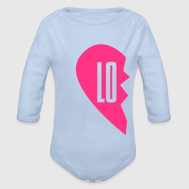 lo - love right side couple shirt - Organic Longsleeve Baby Bodysuit