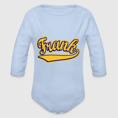 Frank - T-shirt Personalised with your name - Organic Longsleeve Baby Bodysuit