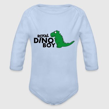 Royal Dino Boy: Royal Baby - Organic Longsleeve Baby Bodysuit