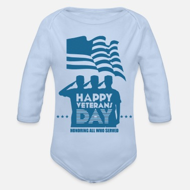 Veterans Day Veterans Day - Baby Bio Langarmbody