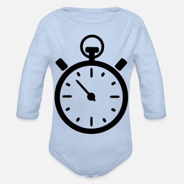 Clock clock - Organic Long-Sleeved Baby Bodysuit