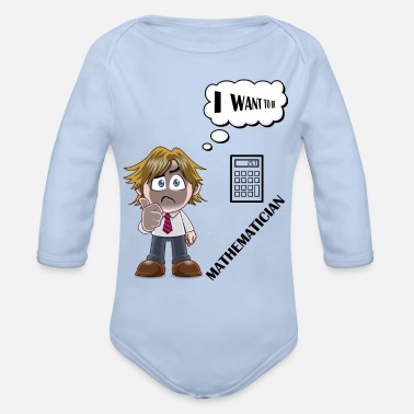 Mathematics MATHEMATICAL - Organic Long-Sleeved Baby Bodysuit