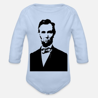 Us Abraham Lincoln US - Organic Long-Sleeved Baby Bodysuit