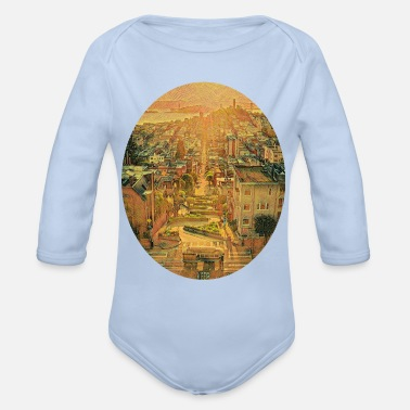 View Lombard Street, San Francisco - Organic Long-Sleeved Baby Bodysuit