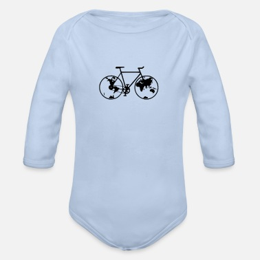 Biking Planet bike, bike, bike, BMX, mountain bike - Organic Long-Sleeved Baby Bodysuit