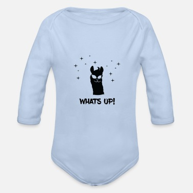 Whats Up Lama - llama / whats up - Organic Longsleeve Baby Bodysuit