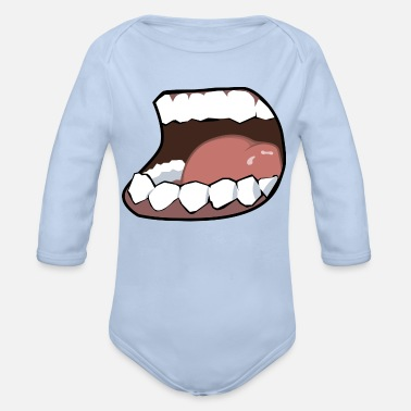 Mouth Hunger, mouth, mouth - Organic Long-Sleeved Baby Bodysuit