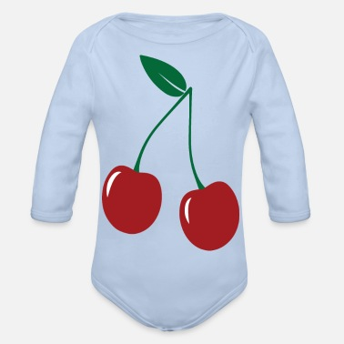 Forest black forest Cherry Black Forest Gengenbach 03 - Organic Long-Sleeved Baby Bodysuit