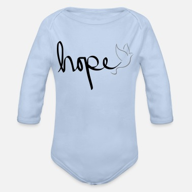 Hope hope - Organic Long-Sleeved Baby Bodysuit