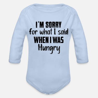Hunger hunger - Organic Long-Sleeved Baby Bodysuit
