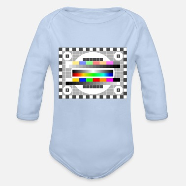 Mtv test picture colors pattern TV retro stylish history fu - Organic Long-Sleeved Baby Bodysuit
