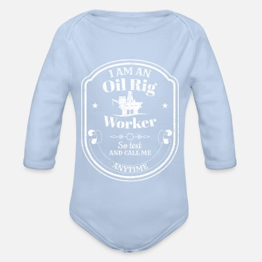 Oil Rig Drilling platform - oil rig - oil rig worker - Organic Long-Sleeved Baby Bodysuit