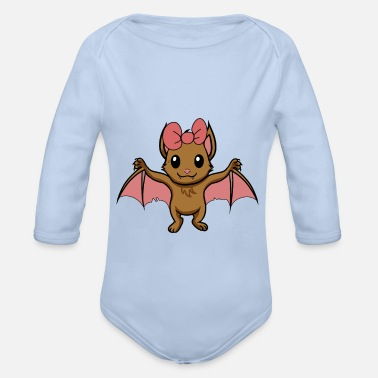 Halloween Baby Fledermaus Tiere Halloween Dark Kinder Comic - Baby Bio Langarmbody