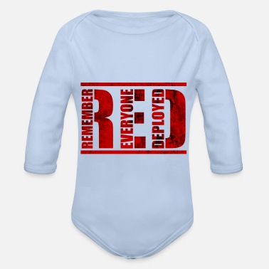 Deployed Remember Everyone Deployed - Organic Long-Sleeved Baby Bodysuit