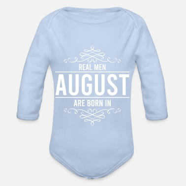 Monarchy Real men in August -Monarchy - Organic Long-Sleeved Baby Bodysuit