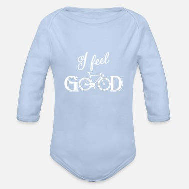 Biking BIKING bike bike - Organic Long-Sleeved Baby Bodysuit