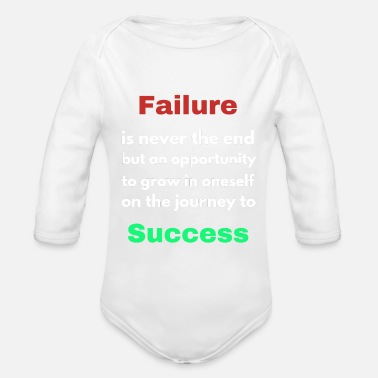 Failure Failure - Organic Long-Sleeved Baby Bodysuit