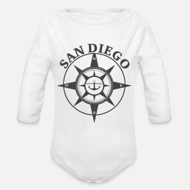San Diego Compass - Organic Long-Sleeved Baby Bodysuit
