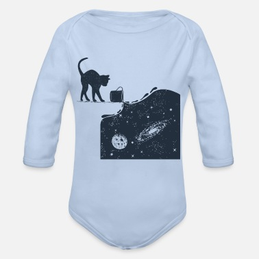 Cats And Dogs Collection Universe Cat - Organic Long-Sleeved Baby Bodysuit