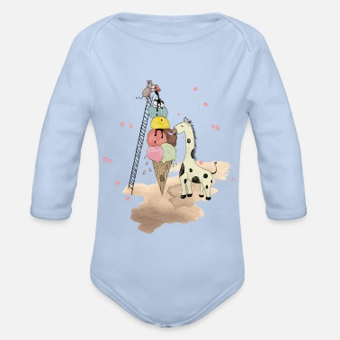 Bestseller Q4 2018 Wildlife Icecream - Baby Bio Langarmbody