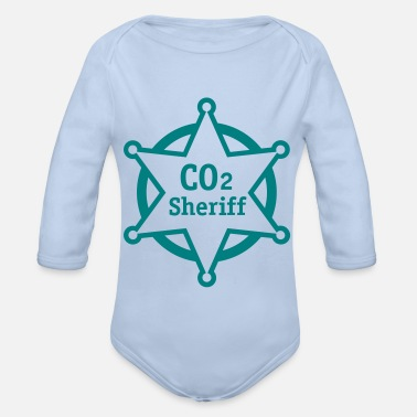 Climate co2 sheriff - Organic Long-Sleeved Baby Bodysuit
