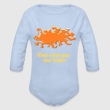 This is not a stain - Organic Longsleeve Baby Bodysuit