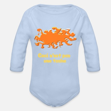 Stains This is not a stain - Organic Long-Sleeved Baby Bodysuit