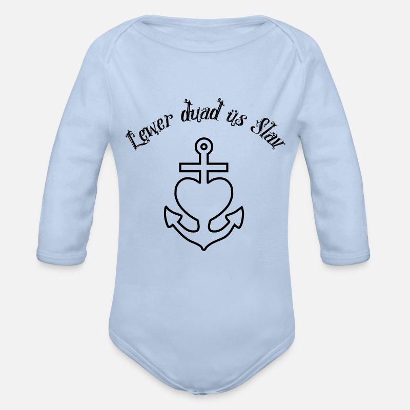 lewer dua s slav anker glaube liebe hoffnung s baby langarmbody spreadshirt. Black Bedroom Furniture Sets. Home Design Ideas