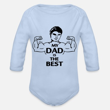 My Dad is the Best (2c) - Økologisk langærmet babybody