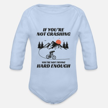 Cycling Mountain biking bicycle off-road Bike MTB Gift - Organic Long-Sleeved Baby Bodysuit